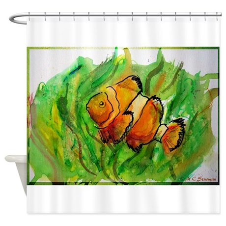 Tropical fish colorful art shower curtain by mcnemo1 for Tropical fish shower curtain