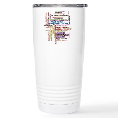 Proud Geography Teacher Stainless Steel Travel Mug