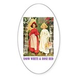 Snow White & Rose Red Sticker (Oval)