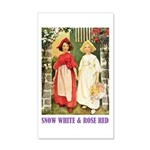 Snow White & Rose Red 35x21 Wall Decal