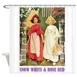 Snow White & Rose Red Shower Curtain