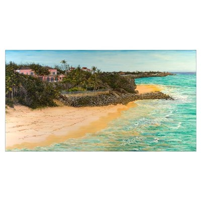 Crane Beach (oil on canvas) Poster