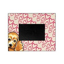 Cocker Spaniel Puppy Love Blush Pink Picture Frame