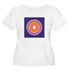 Dayglo Pink and Orange Mandala T-Shirt