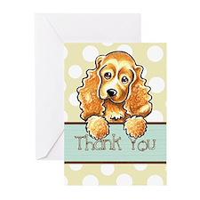 Cocker Spaniel Polka Dot Thank You Greeting Cards