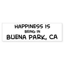 Buena Park - Happiness Bumper Bumper Sticker