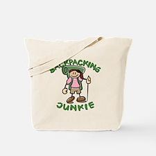 Backpacking Junkie Girl Tote Bag