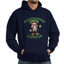 Backpacking Junkie Girl Hoodie