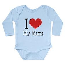I Heart My Mum Long Sleeve Infant Bodysuit