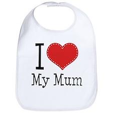 I Heart My Mum Bib
