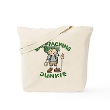 Backpacking Junkie Boy Tote Bag