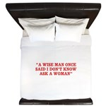 wise man merchandise King Duvet