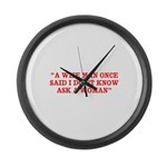 wise man merchandise Large Wall Clock