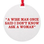 wise man merchandise Round Ornament