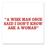 wise man merchandise Square Car Magnet 3