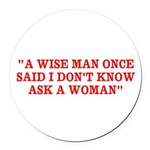 wise man merchandise Round Car Magnet