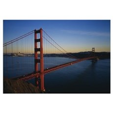 Bridge across the sea, Golden Gate Bridge, San Fra Framed Print