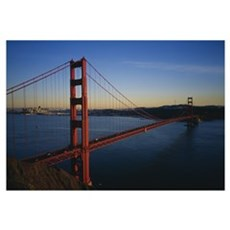 Bridge across the sea, Golden Gate Bridge, San Fra Poster