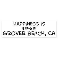 Grover Beach - Happiness Bumper Bumper Sticker