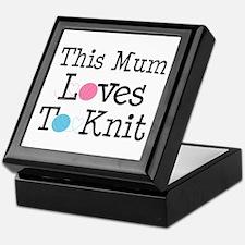 Mum Loves Knitting Keepsake Box