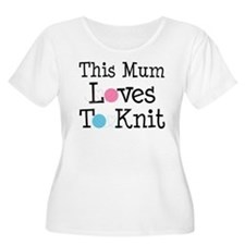 Mum Loves Knitting T-Shirt