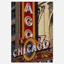 Close-up of a theater sign, Chicago Theater, Chica