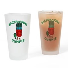Backpacking Junkie Drinking Glass
