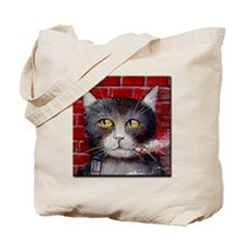 Billy the Pool-Playing Cat Tote Bag