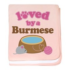 Loved By Abyssinian Cat baby blanket