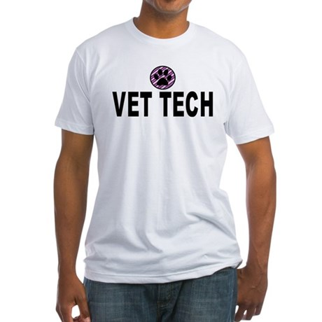 Vet Tech Purple Stripes Fitted T-Shirt