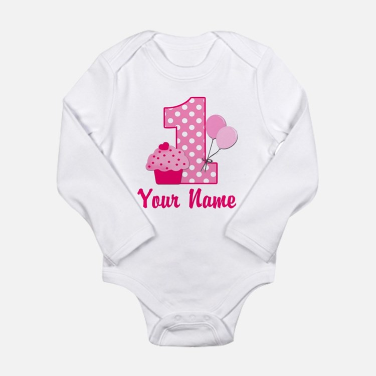 1st Birthday Pink Cupcake Baby Outfits