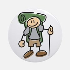 Happy Hiker Boy Ornament (Round)