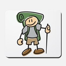 Happy Hiker Boy Mousepad
