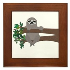 Sloth Framed Tile