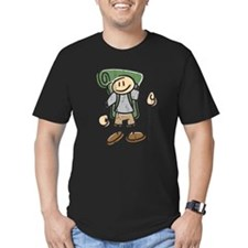 Happy Hiker Boy Men's Distressed Fitted T-Shirt