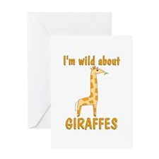 Wild About Giraffes Greeting Card