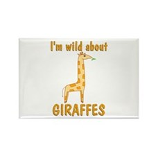 Wild About Giraffes Rectangle Magnet (10 pack)