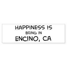 Encino - Happiness Bumper Bumper Sticker