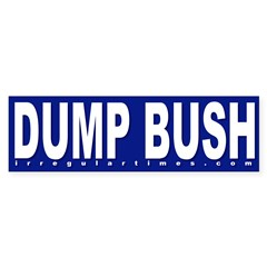 Dump Bush Blue Bumper Bumper Sticker