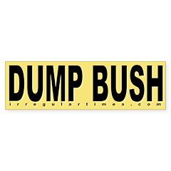 Dump Bush Yellow Bumper Bumper Sticker