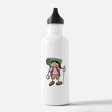 Happy Hiker Girl Water Bottle