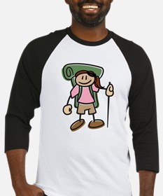Happy Hiker Girl Baseball Jersey