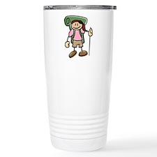 Happy Hiker Girl Travel Mug