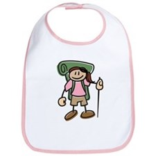 Happy Hiker Girl Bib