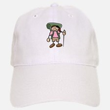 Happy Hiker Girl Baseball Baseball Cap