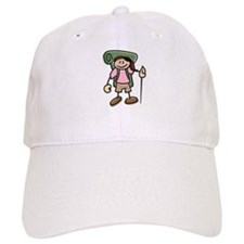 Happy Hiker Girl Baseball Cap