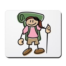 Happy Hiker Girl Mousepad