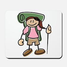 Happy Hiker Girl Mousepad