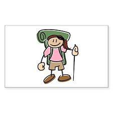 Happy Hiker Girl Decal