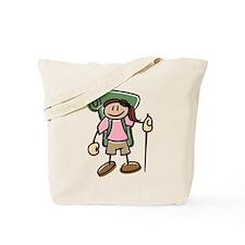 Happy Hiker Girl Tote Bag